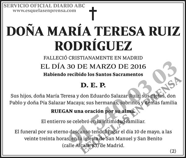 María Teresa Ruiz Rodríguez